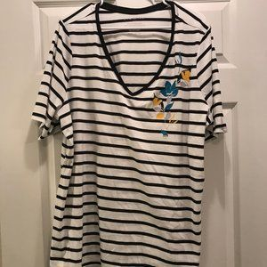 NWT Lane Bryant short sleeve striped top